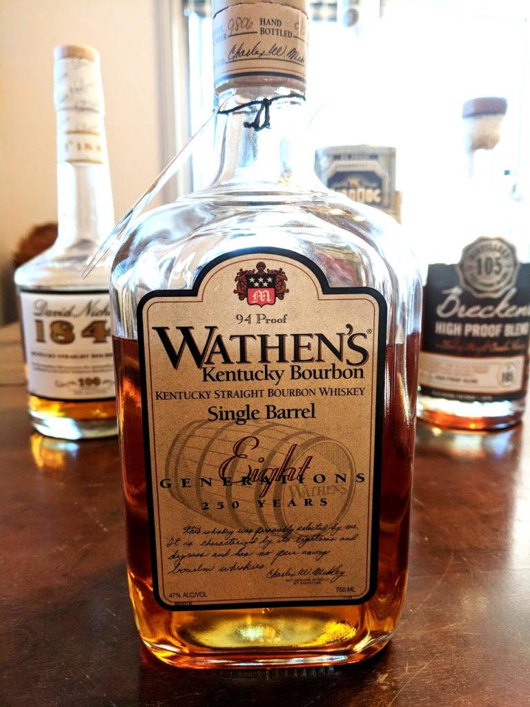Wathen's single barrel kentucky bourbon whiskey