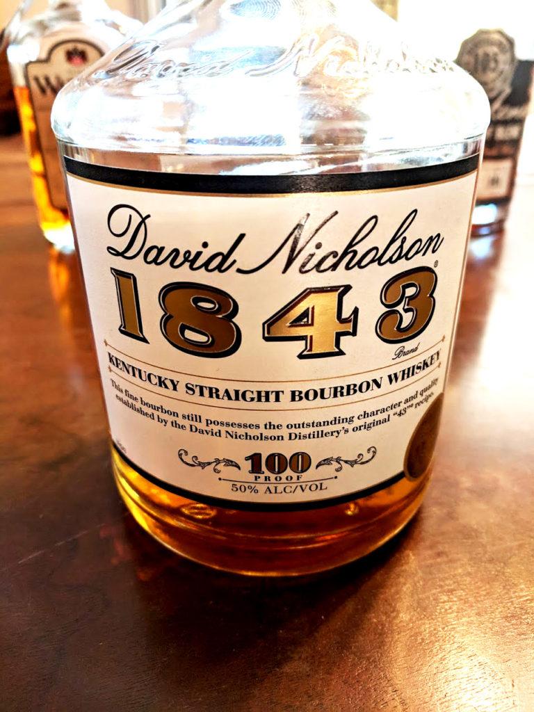 David Nicholson 1843 kentucky straight bourbon whiskey